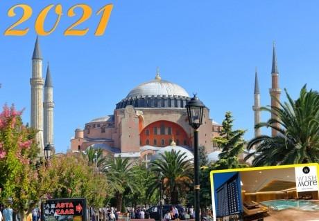 Нова година в Истанбул, хотел Wish More Hotel Istanbul*****. 3 нощувки на човек със закуски и СПА + доплащане за новогодишна вечеря от ТА Далла Турс