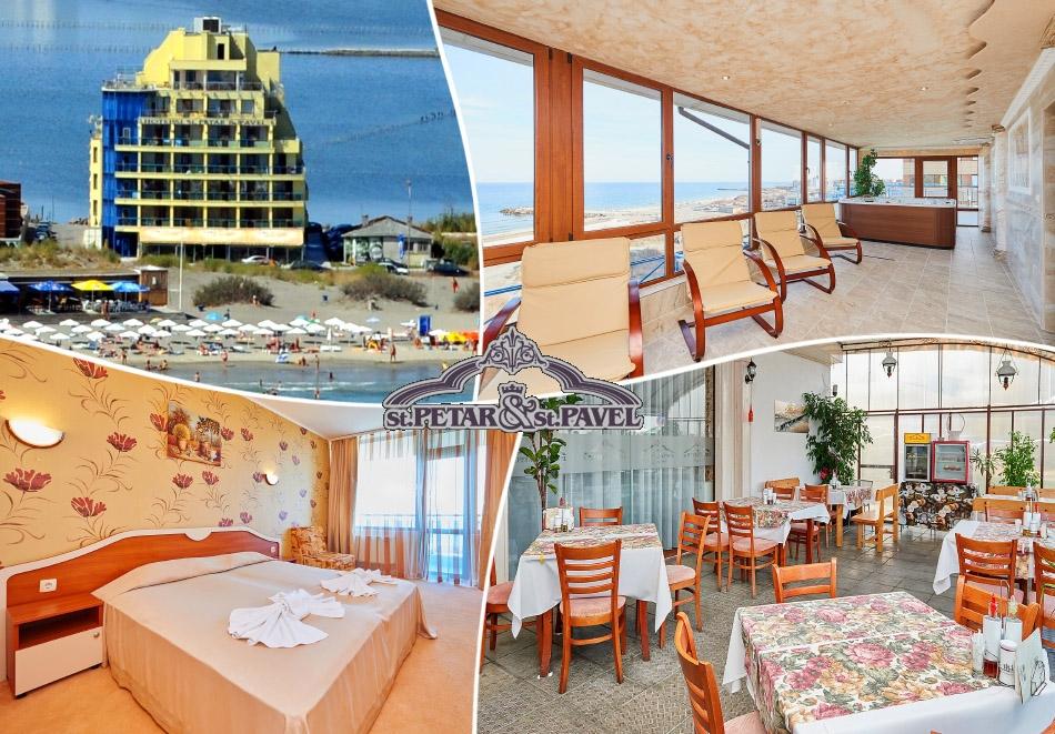 Нощувка на човек в двойна стая със закуска и вечеря* + релакс зона от хотел Св. Св. Петър и Павел***, Поморие