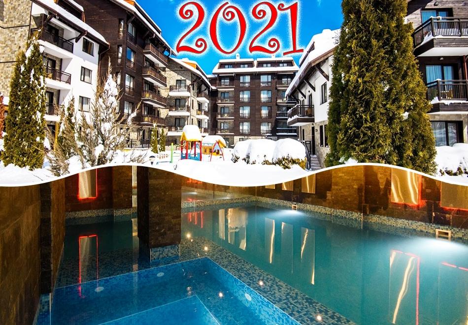 Нова година до Банско! 3, 5 или 7 нощувки на човек със закуски и вечери, едната празнична + басейн и СПА зона от Балканско Бижу апартхотел****
