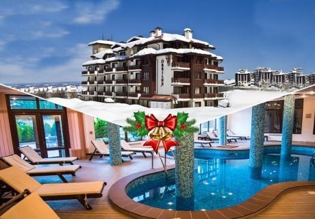Коледа в Банско! 3 или 4 нощувки на човек със закуски и вечери + басейн и релакс зона в хотел Орбилукс***