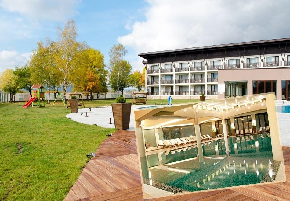 СПА офис в хотел Белчин Гардън****, Белчин Баня! 3 или 4 нощувки със закуски на човек + минерален басейн и СПА пакет