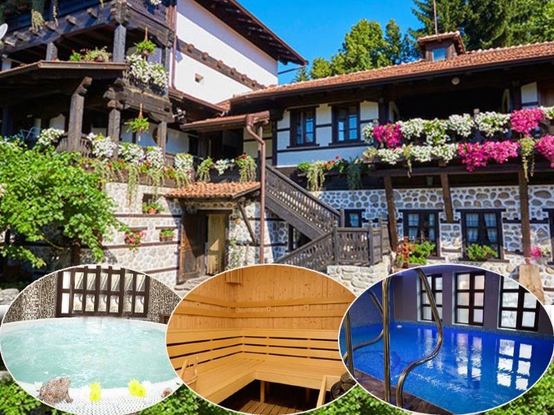 Нощувка на човек със закуска + минерален басейн и релакс пакет в Македонска кръчма хотел и механа, Добринище