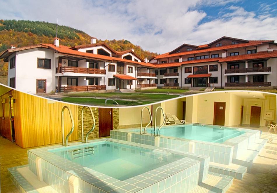Нощувка на човек със закуска + басейн и сауна от хотел Планината, Рибарица