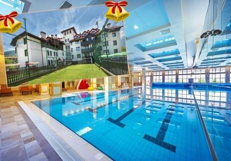 Коледа в Банско! 3 нощувки на човек със закуски и вечери по желание + топъл басейн и СПА в хотел 7 Пулс & СПА Апартмънтс