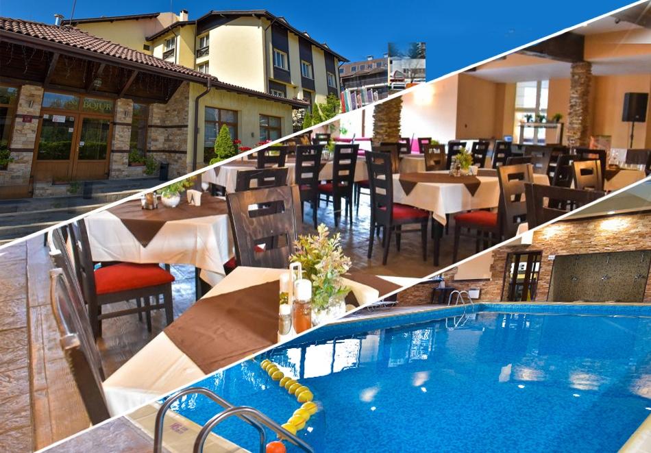 Нощувка на човек + басейн и релакс зона в семеен хотел Божур, Банско