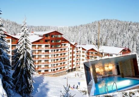 2 нощувки на човек със закуски и вечери + басейн и релакс пакет в апарт-хотел Форест Нук, Пампорово!