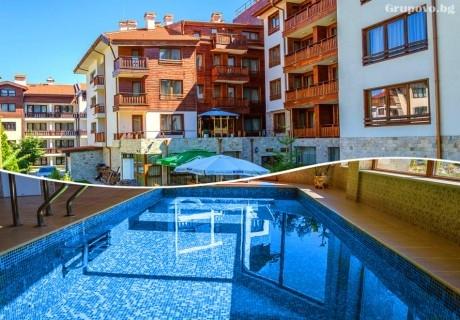 Нощувка на човек в едноспален апартамент със закуска + отопляем басей  и релакс зона в хотел Евъргрийн, Банско