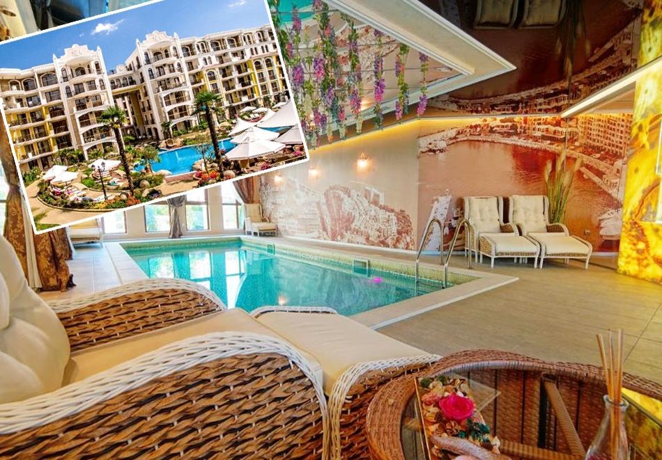 Нощувка на човек + басейн и релакс зона в хотел Хармони Суитс Монте Карло, Слънчеб бряг