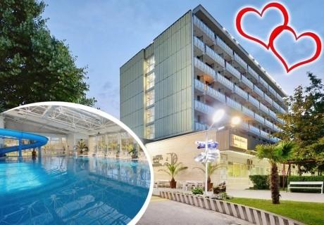 Свети Валентин в хотел Аугуста, Хисаря! Нощувка за двама, трима или четирима със закуска + ТОПЛИ минерални басейни и джакузи