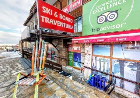 Наем на ски или сноуборд оборудване за 1 или 2 дни от Ски и сноуборд магазин Травентурия, Банско