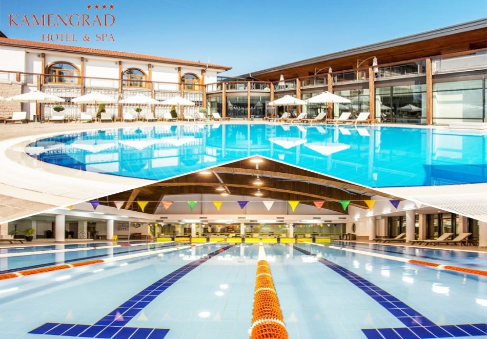 Делник в хотел Каменград****, Панагюрище! Нощувка на човек със закуска + открит и закрит плувен минерален басейн и СПА