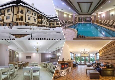2 или 3 нощувки на човек със закуски и вечери + отопляем басейн и сауна от хотел Мария Антоанета, Банско. БОНУС: Плащате 5 нощувки, получавате 6!