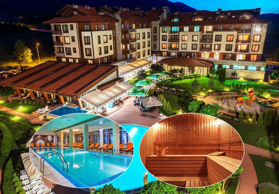 Март и април до Банско! Нощувка на човек на база All inclusive + вътрешен отопляем басейн и СПА зона от Мурите Клуб Хотел