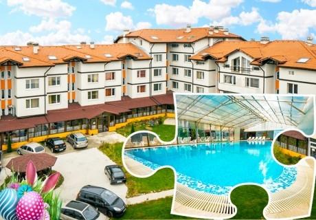 Великден в с. Баня до Банско! 3 нощувки на човек със закуски и вечери + минерален басейн и релакс пакет в хотел Вита Спрингс