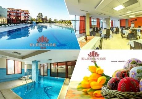 Великден в Огняново! 3 нощувки на човек със закуски и празнична вечеря + 2 минерални басейна и релакс зона от хотел Елеганс СПА***