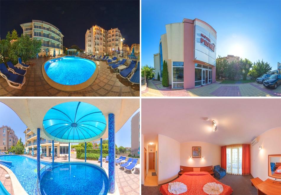 Нощувка на човек + външен басейн и НОВ детски център от Хотел Пешев***, Свети Влас