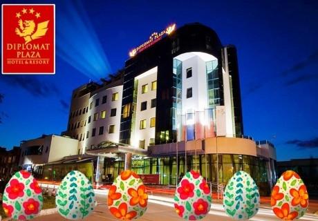 Великден в хотел Дипломат Плаза****, Луковит! 2 или 3 нощувки на човек със закуски и вечери, едната празнична + барбекю обяд + басейн и СПА зона