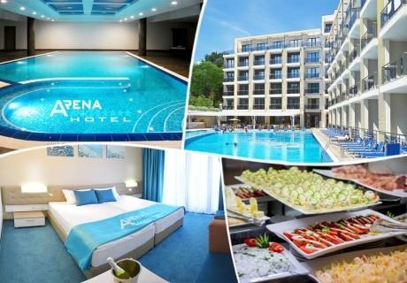 Почивка в Златни Пясъци! Нощувка на човек със закуска и вечеря* + басейн и релакс зона в Хотел Арена Мар****