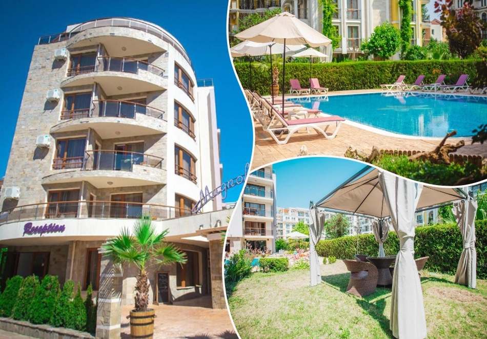 Нощувка на човек в Апарт хотел Магнолия Гардън, Слънчев бряг