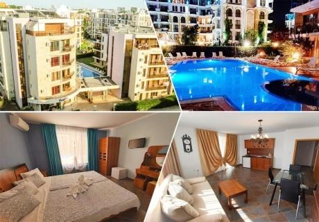 Нощувка на човек на база All inclusive light + басейн в Апарт хотел Магнолия Гардън, Слънчев бряг