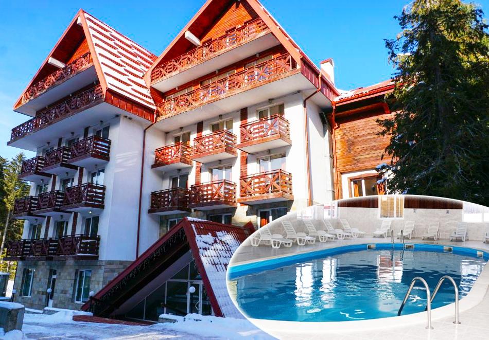 Нощувка на човек със закуска и вечеря + басейн и релакс зона от хотел Иглика Палас, Боровец