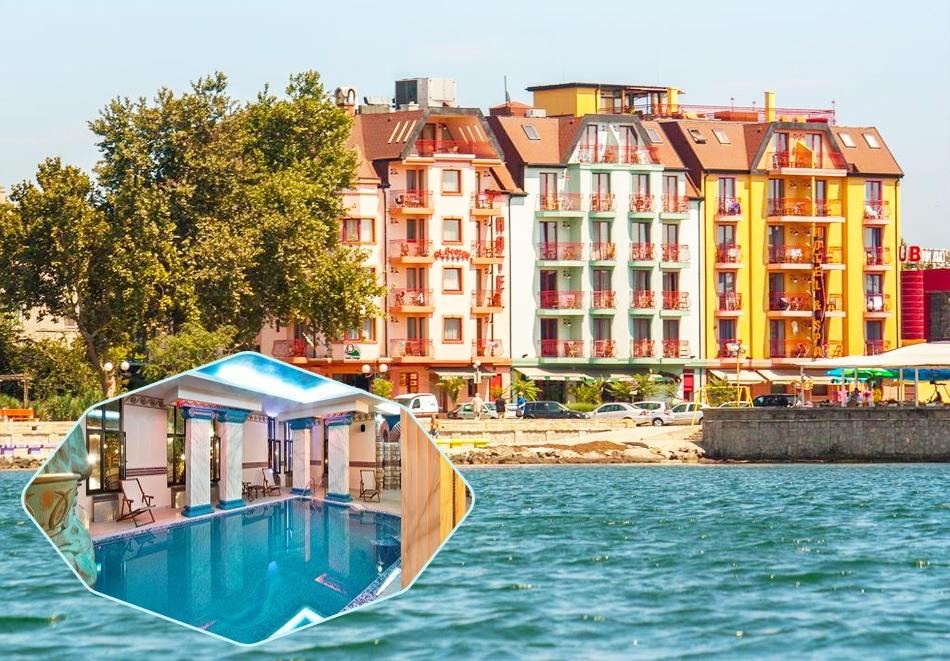 2+ нощувки на човек със закуски и вечери + басейн и СПА в хотел Сейнт Джордж****, на 1-ва линия в Поморие