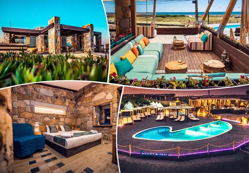 Май на о. Лимнос, Гърция! Нощувка за двама със закуска + басейн от луксозни вили и апартаменти Keros Blue