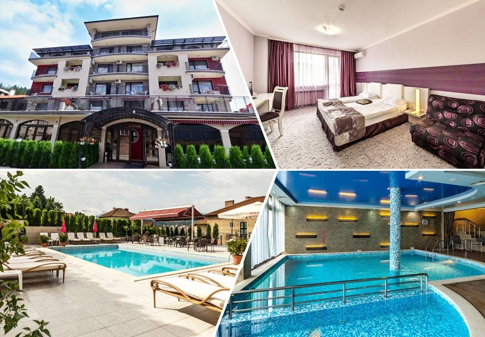 Април във Велинград! Нощувка на човек със закуска и вечеря + открит и закрит минерален басейн + релакс пакет в хотел Енира****