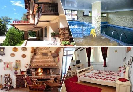 Великден в Сапарева баня! 3 или 4 нощувки на човек със закуски и вечери + празничен обяд + вътрешен басейн и релакс зона с минерална вода от Семеен хотел Емали