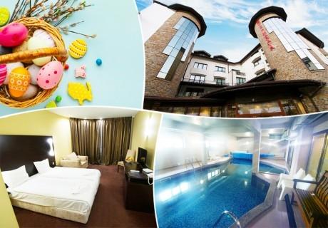 Великден в Банско! Нощувка на човек със закуска и вечеря + празничен обяд + басейн и релакс пакет в хотел Марая****
