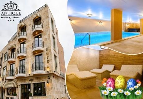 Великден в Павел баня! 3 нощувки на човек със закуски и вечери, едната празнична + топъл басейн и релакс зона от хотел Антик