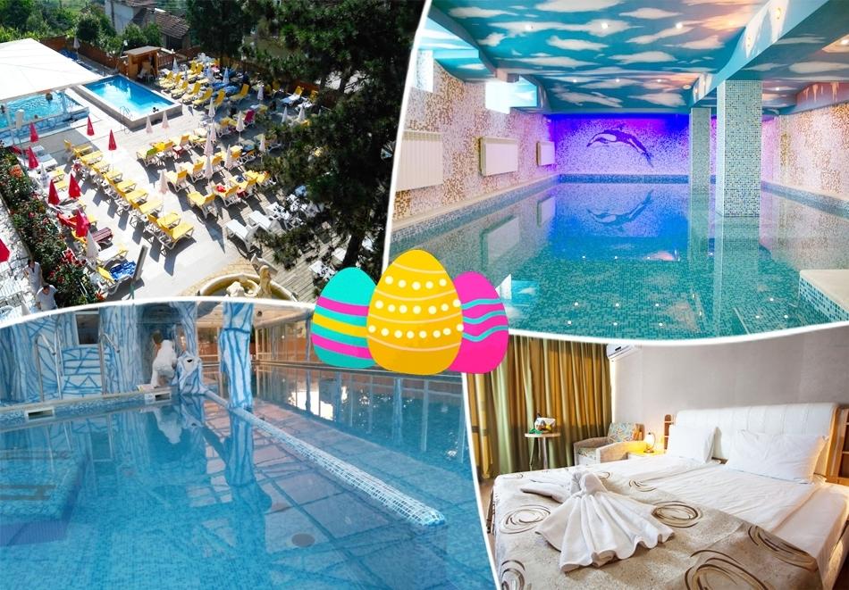 Великден във Велинград. 3 нощувки на човек със закуски и вечери + 3 минерални басейна и СПА зона от Балнеохотел Аура***