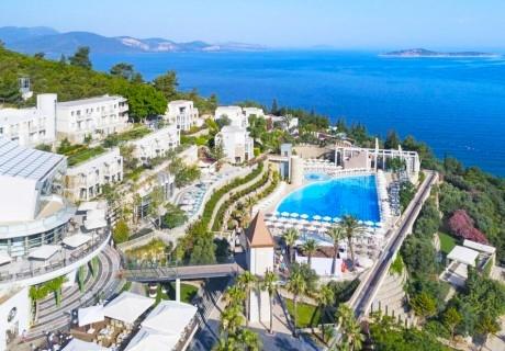 5 нощувки на човек на база Ultra All Inclusive + басейн с пързалки, собствен пясъчен плаж и СПА пакет в Duja Bodrum Hotel*****, Бодрум, Турция, от Ню Сън Травел