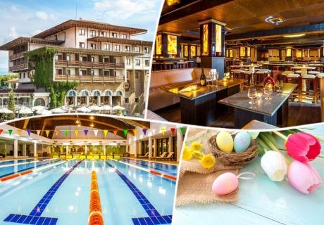 Великденски и Майски празници в хотел Каменград****, Панагюрище! 3 или 4 нощувки на човек със закуски и вечери, едната празнична с музикална програма + закрит плувен минерален басейн и СПА!