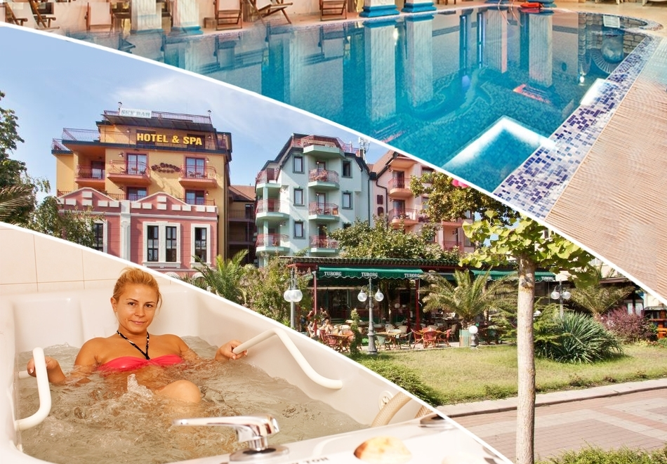 3 + нощувки на човек със закуски и вечери + 2 лечебни процедури на ден + басейн и СПА в хотел Сейнт Джордж****, Поморие