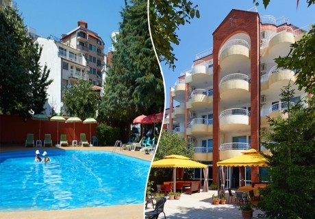 Късно лято в Свети Влас! 5=7 нощувка за двама или трима + басейн в хотел Консул Блу Сън
