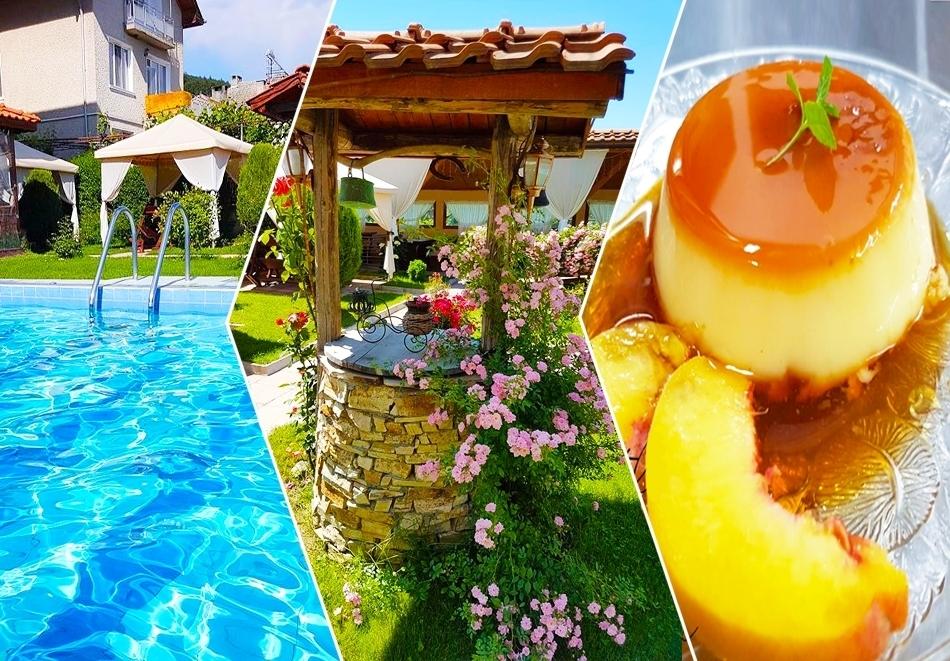 Нощувка на човек със закуска + минерален басейн, сауна и джакузи в хотел Шарков, Огняново
