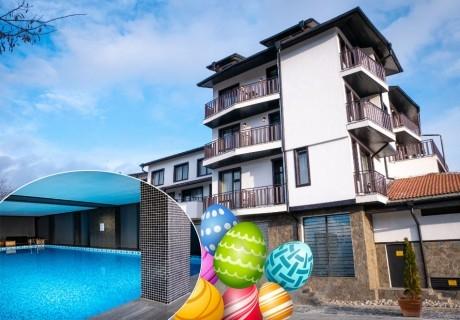 Великден в Банско! 3+ нощувки на човек със закуски и вечери + празничен обяд, басейн и релакс пакет в хотел Ривърсайд****