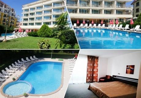 1, 2 или 3 нощувки на човек със закуски и вечери + басейн в хотел Дева, Слънчев бряг. Дете до 12г. - безплатно!
