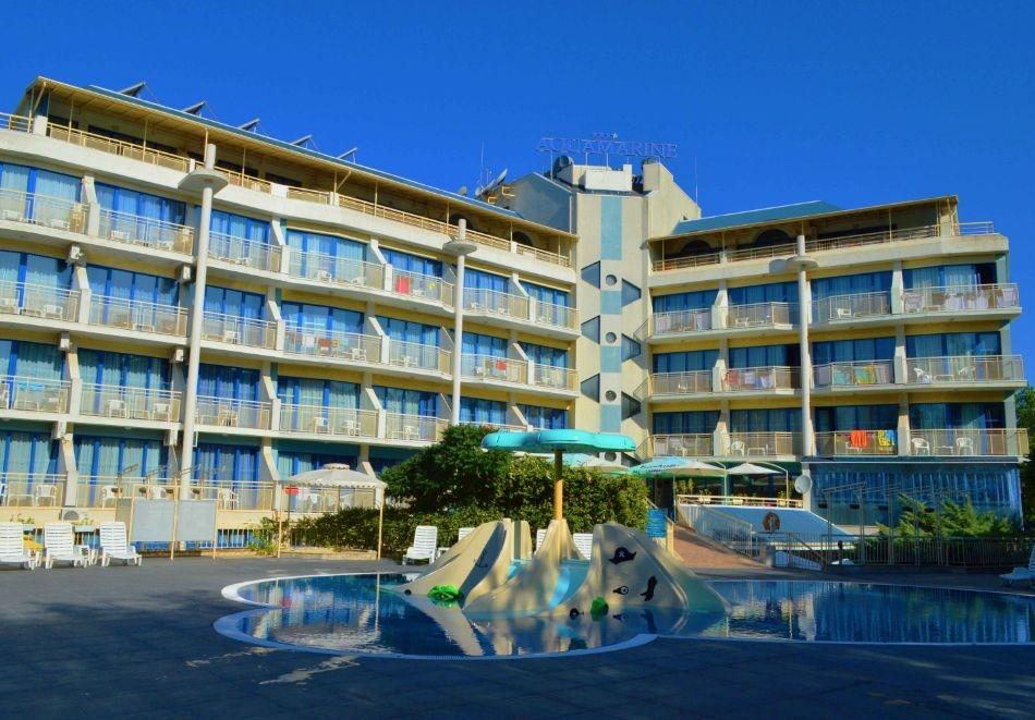 2 нощувки на човек на база All inclusive + басейн в хотел Аквамарин, Слънчев Бряг. Дете до 13г. - БЕЗПЛАТНО!!