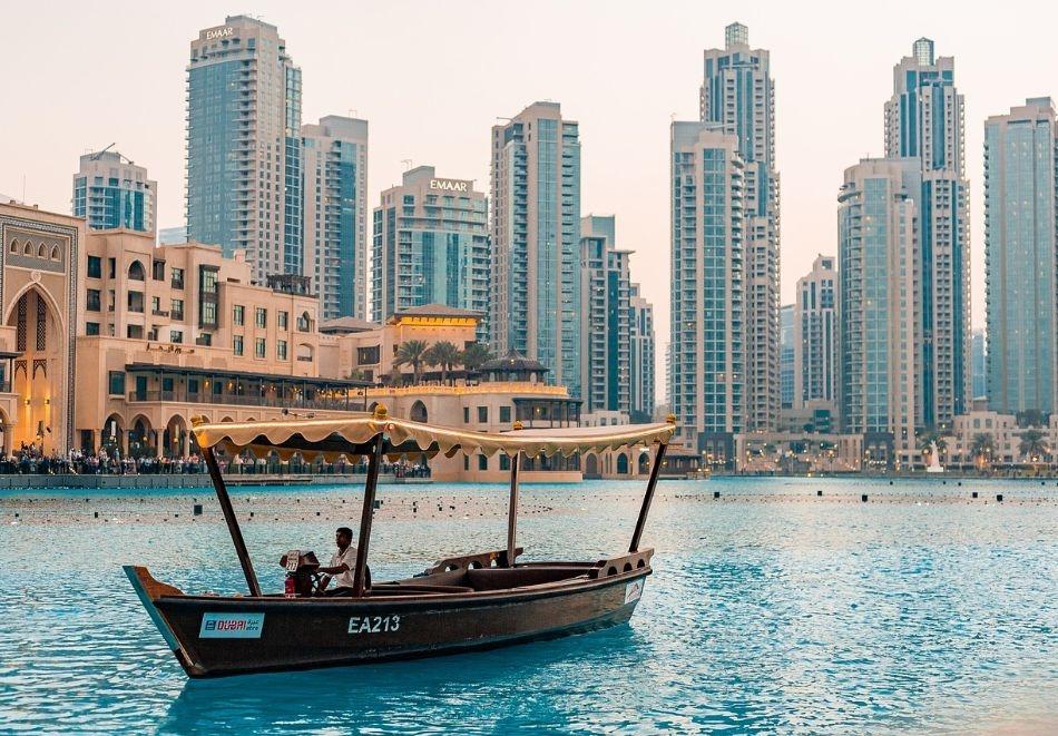 Майски празници в Дубай! Самолетен билет от София + 4 нощувки на човек със закуски и вечери в хотел 4* + полудневен тур на Дубай + круиз Дубай Марина + сафари в пустинята!