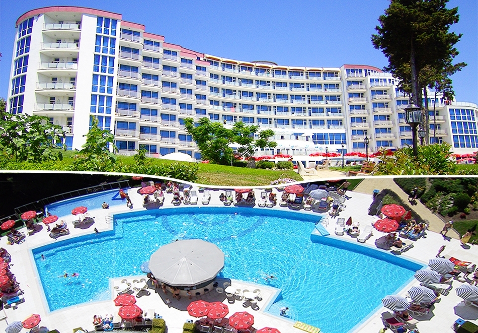 Нощувка на човек на база All inclusive + басейн в хотел Аква Азур****, Св. Св. Константин и Елена. 2 деца до 13г. - безплатно