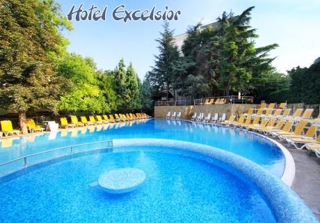ТОП СЕЗОН в Златни пясъци! Нощувка на човек на база All Inclusive + басейн в хотел Екселсиор****. Дете до 13г. - БЕЗПЛАТНО!