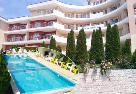 3, 5 или 7 нощувки в апартамент за четирима + басейн в Апартхотел Марина Резиденс, Каварна