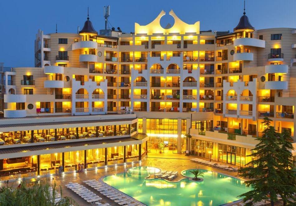 Нощувка на човек на база All Inclusive + СПА процедури + басейн и анимация в хотел Империал Ризорт, Слънчев бряг