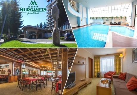 Нощувка на човек със закуска + плувен басейн и релакс зона в Гранд хотел Мургавец****, Пампорово