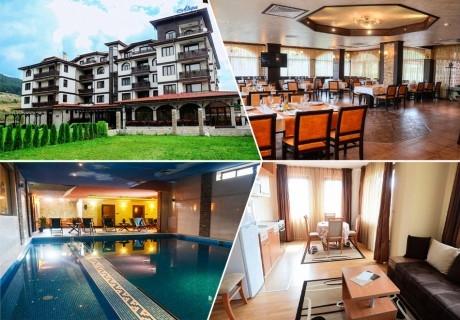 2+ нощувки на човек със закуски и вечери + минерален басейн и релакс зона от Семеен хотел Алегра, Велинград