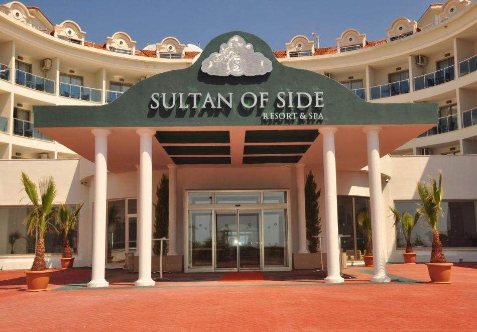 Почивка през август в Сиде, Турция. Чартърен полет от София + 7 нощувки на човек на база All Inclusive в SULTAN OF SIDE HOTEL 5*!