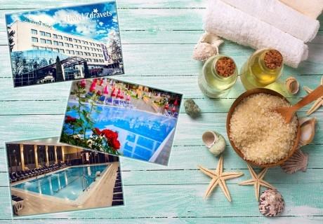 3 нощувки на човек със закуски, обеди и вечери + балнеолечебен пакет + минерален басейн в хотел Здравец Уелнес и СПА****, Велинград