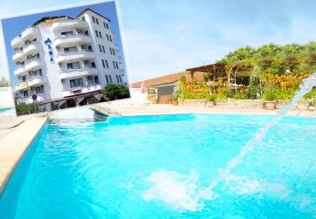 Нощувка на човек със закуска и вечеря* + басейн в хотел Алба Фемили Клуб, Приморско!